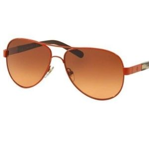 Tory Burch- TY6010 Orange Metal Aviator Sunglasses